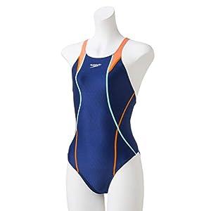 Speedo(スピード) 競泳水着 女の子 ジュニア エイムカットスーツ フレックスキューブ FINA 承認モデル SCG01907F ブルー×オレンジ BO 140