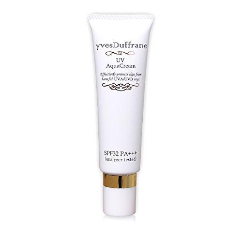 日焼け止め アクアクリーム (SPF32 PA+++) 低刺激 敏感肌 顔 シミ対策 ビタミンC誘導体 男性 OK 下地OK [ uv アクア]
