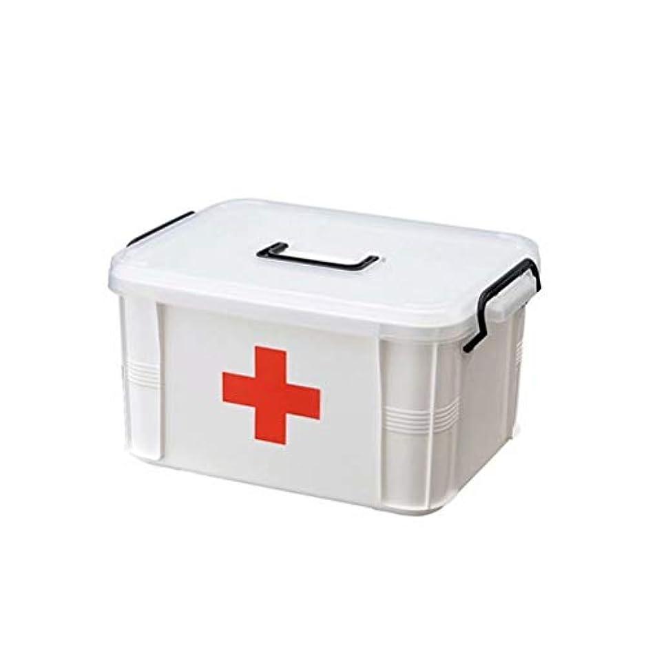 音声学たくさんの本物救急箱 薬箱 収納ケース 応急処置 くすり 薬入れ 小物入れ 車収納ボックス 大容量 赤十字 多機能 3サイズ S/M/L
