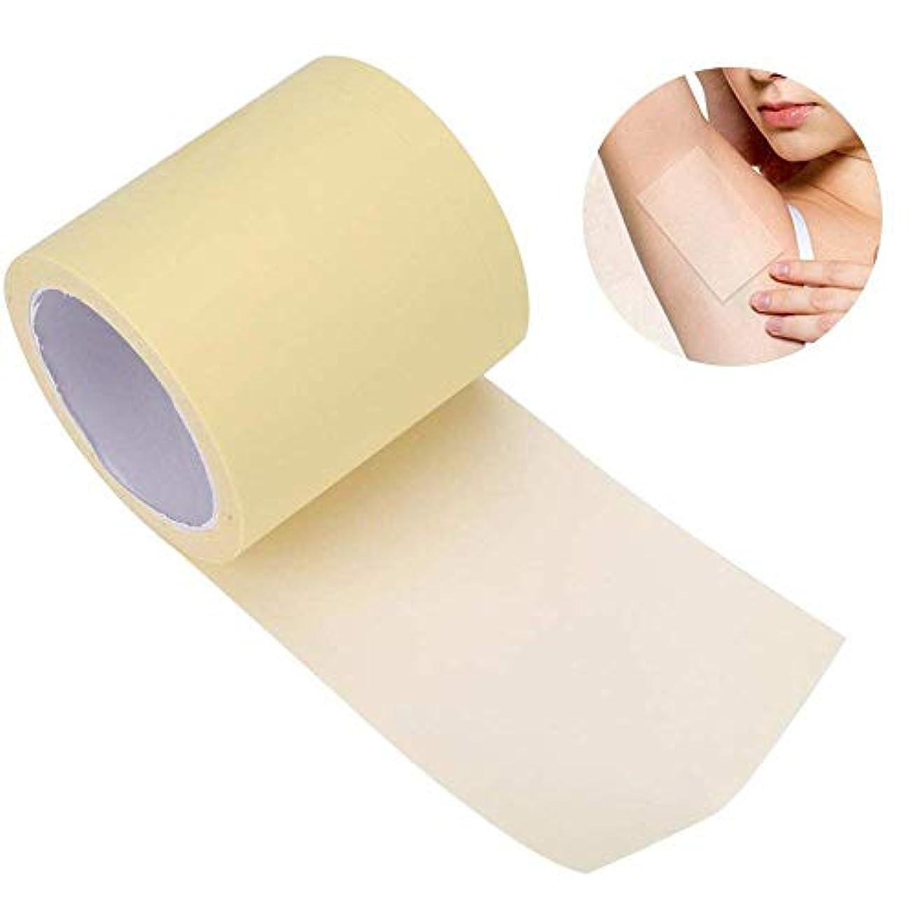 気怠い避難する不振脇の下汗パッド 汗止めパッド 皮膚に優しい 脇の汗染み防止 抗菌加工 皮膚に優しい 男性/女性対応 透明 全長6m 脇の下