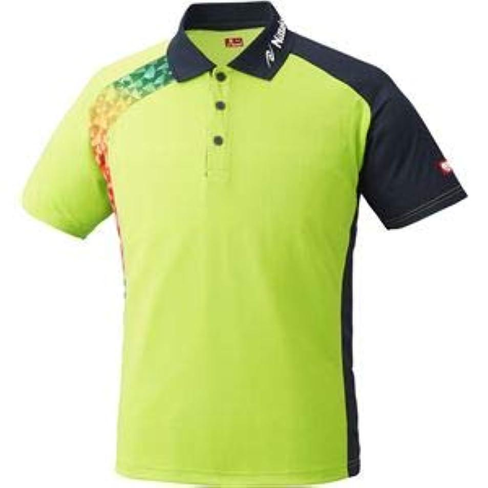 呼び起こすポスト印象派復活するニッタク(Nittaku)卓球アパレル BUMERAN SHIRT(ブメランシャツ)ゲームシャツ(男女兼用 )NW2178 グリーン S