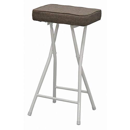 ハイチェア 折りたたみ カウンターチェア 高さ63cm 椅子 折りたたみ椅子 チェア バーチェア (布地 ブラウン)
