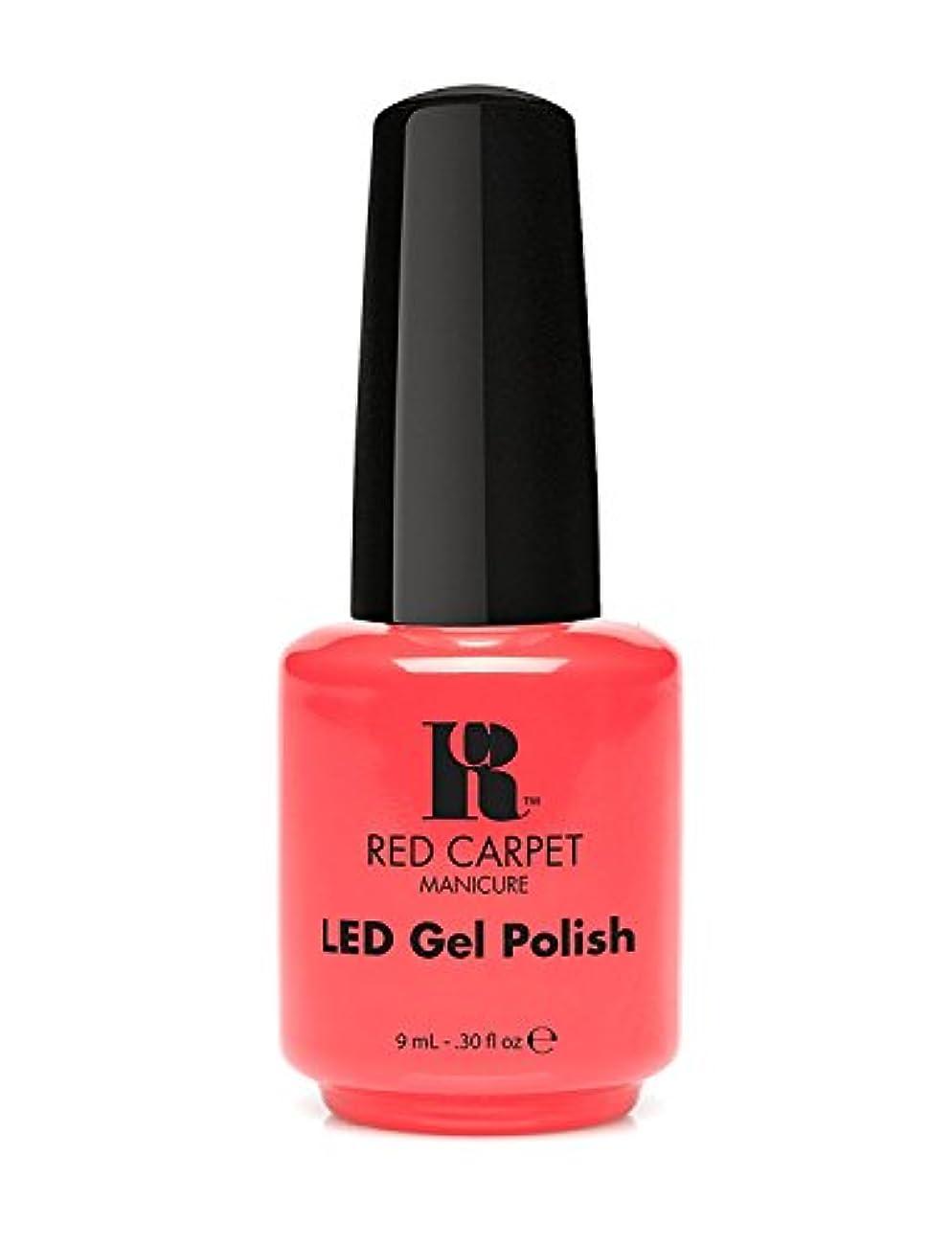 湿ったプロポーショナル操作可能Red Carpet Manicure - LED Nail Gel Polish - Mimosa by the Pool - 0.3oz/9ml