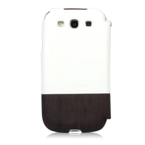 ZENUS Galaxy S3 SC-06Dケース Masstige Oak Wood Block Diary ブラックチョコ ダイアリータイプ Z1260GS3