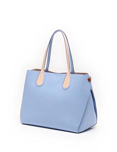 (ディオール) Dior アディクト トートバッグ 284350 ブルー ベージュ レザー レディース 中古