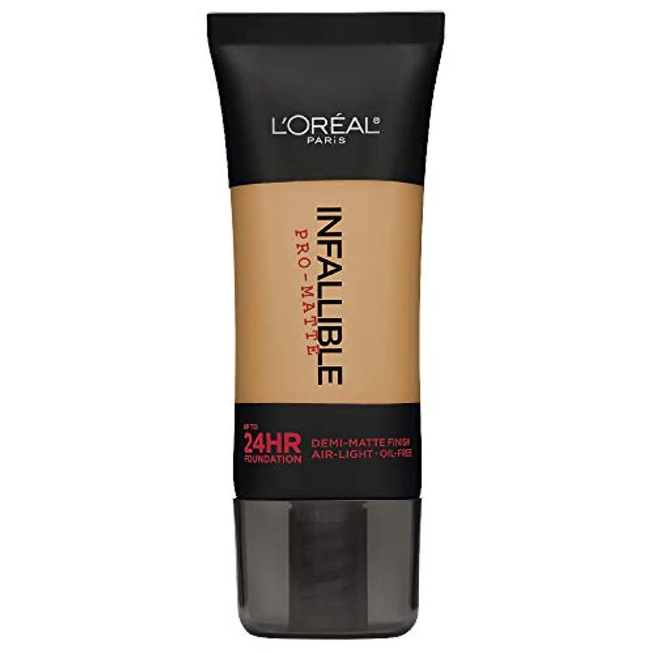 推測クリケット怒ってL'Oreal Paris Infallible Pro-Matte Foundation Makeup, 107 Fresh Beige, 1 fl. oz[並行輸入品]