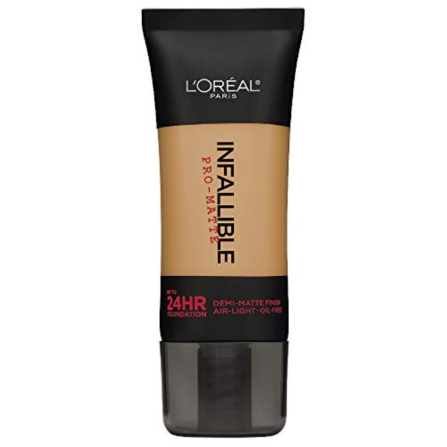 補充不完全極めて重要なL'Oreal Paris Infallible Pro-Matte Foundation Makeup, 107 Fresh Beige, 1 fl. oz[並行輸入品]