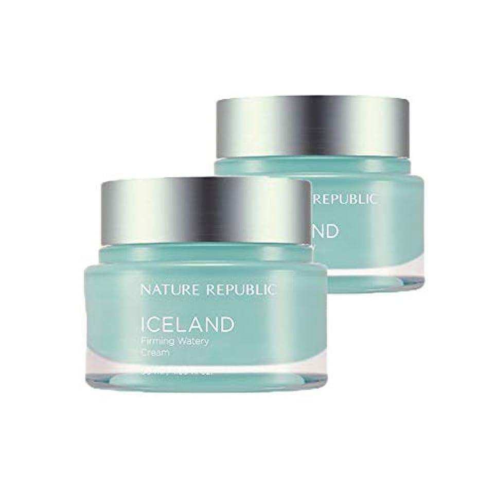 落ち着かない個人的な楽しむネイチャーリパブリックアイスランドファーミング水分クリーム50mlx2本セット韓国コスメ、Nature Republic Iceland Firming Watery Cream 50ml x 2ea Set Korean Cosmetics [並行輸入品]