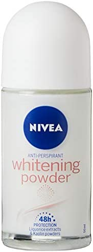 NIVEA Deodorant for Women Roll-On Whitening Powder, 50ml
