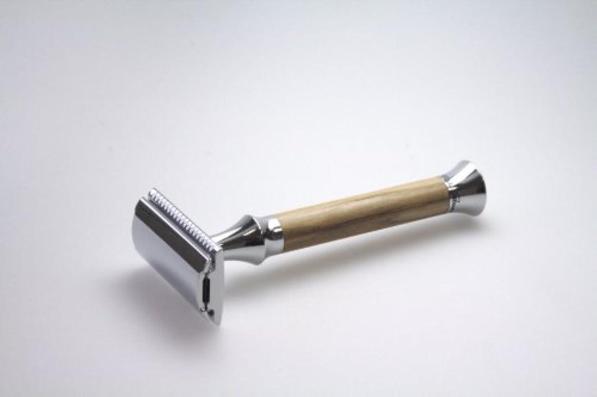死傷者置き場繊維G&F - Vintage Edition Safety razor, olive wood, 10 razor blades