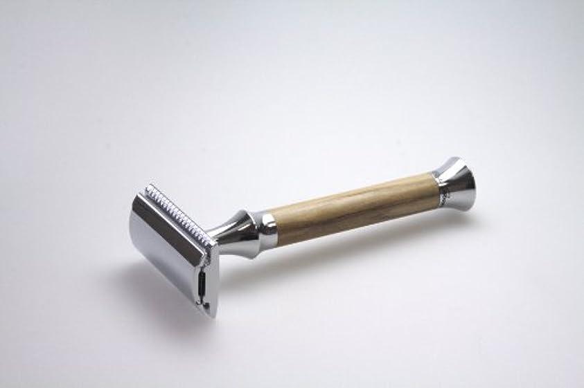 ムス通知アドバンテージG&F - Vintage Edition Safety razor, olive wood, 10 razor blades