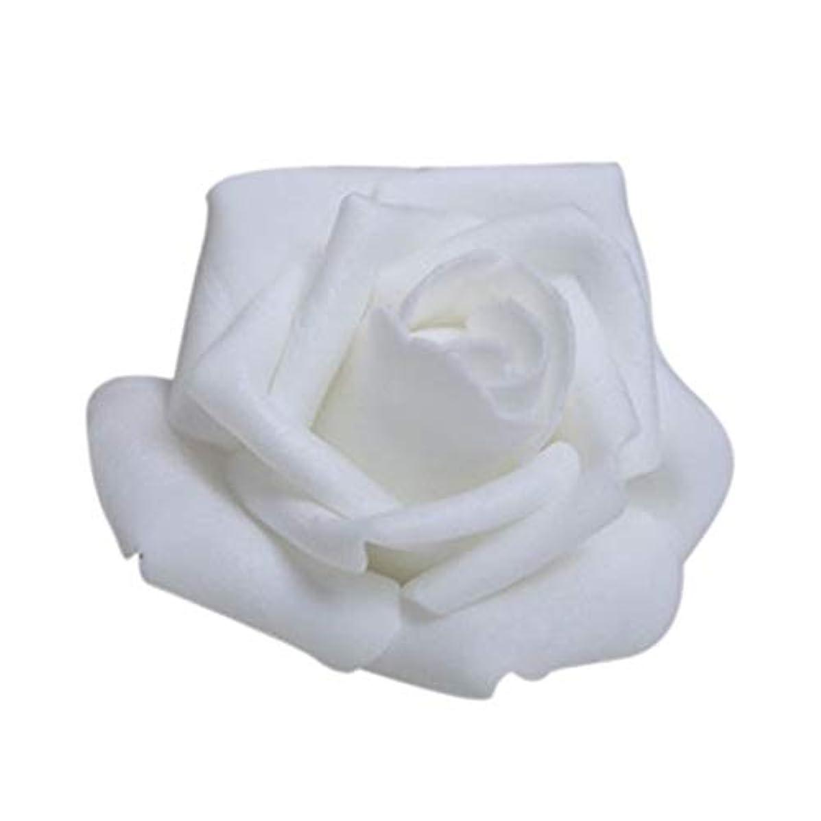 飢無人品種人工観葉植物、ンテリア飾り、植物装飾 ウェディングパーティーの装飾造花のDIYのクラフトホワイトブティック100PCS泡ローズ花芽
