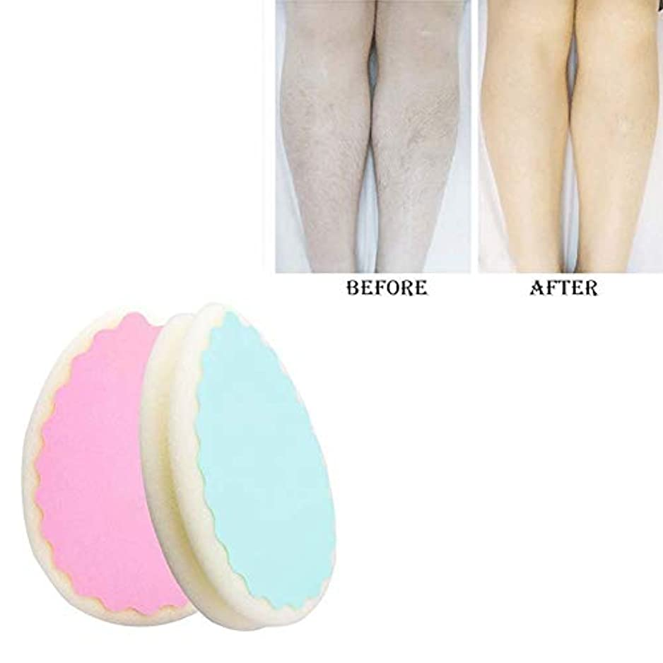 ハーブ離す良心的ヘアーリムーバー無痛脱毛スポンジ、両方の男性と女性は脚腕の毛リムーバー効果的な、5PCSを使用して削除することができます