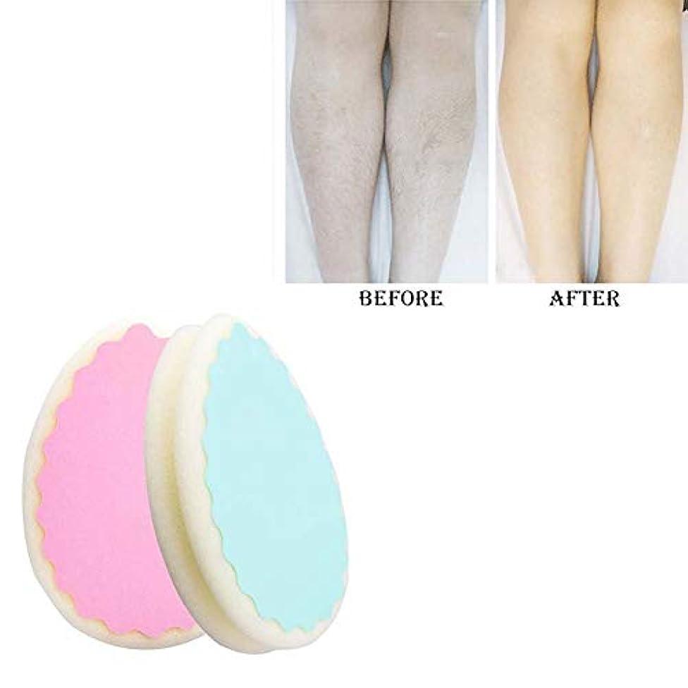 爆弾ポット評価可能ヘアーリムーバー無痛脱毛スポンジ、両方の男性と女性は脚腕の毛リムーバー効果的な、5PCSを使用して削除することができます
