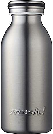 水筒 真空断熱 スクリュー式  マグ ボトル 0.35L シルバー mosh! (モッシュ! )
