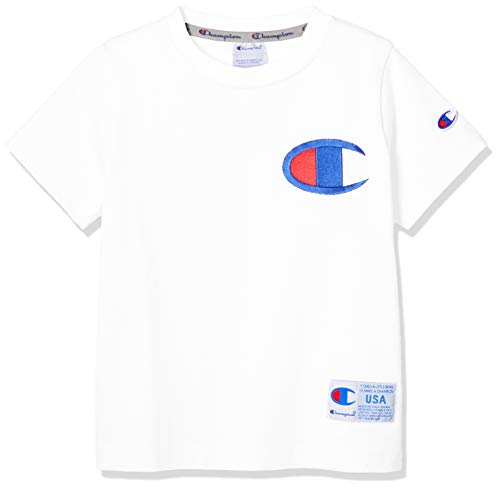 [チャンピオン] ビッグCマークTシャツ CS4980 ボーイズ オフホワイト 日本 130 (日本サイズ130 相当)
