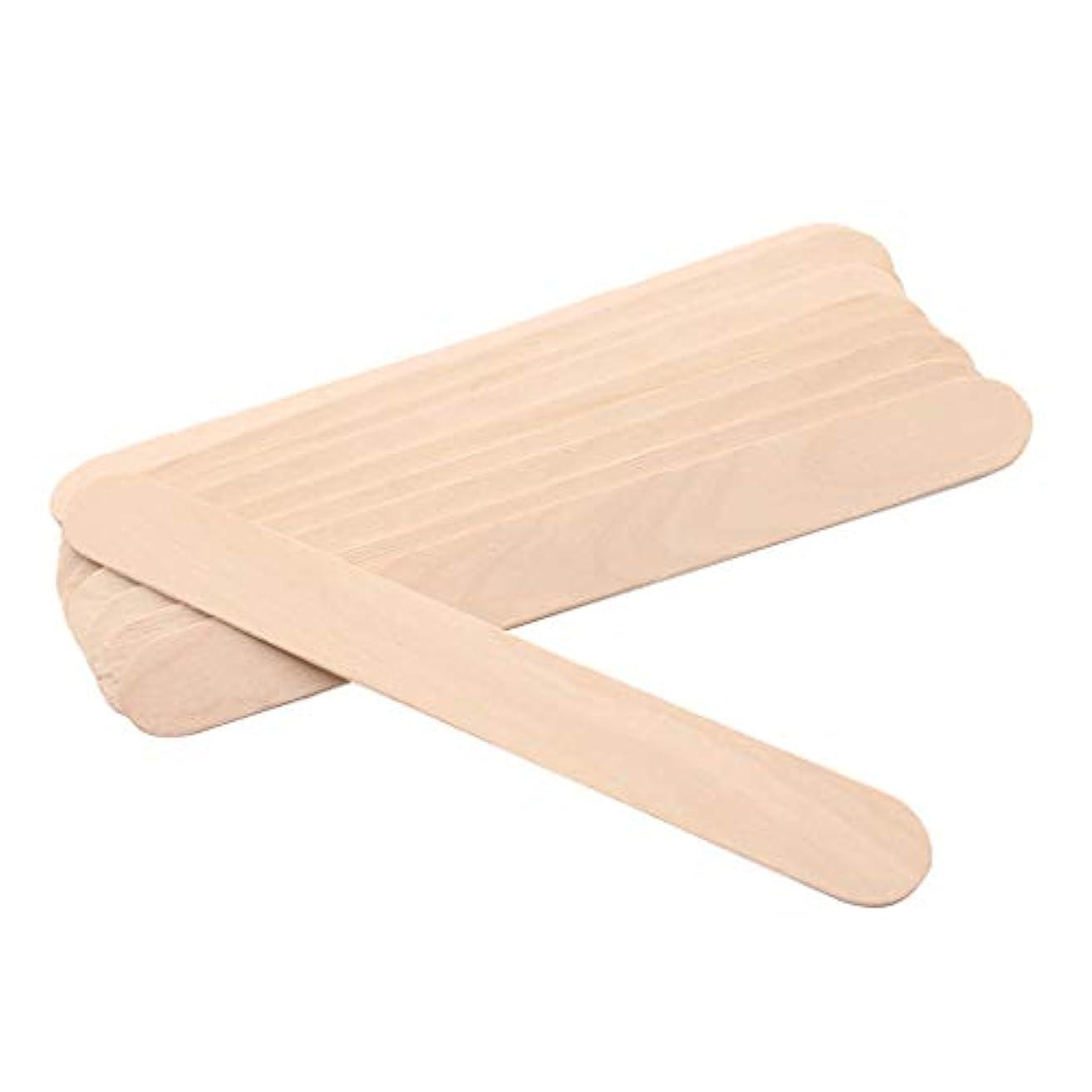 ご飯夕暮れ乱雑なPerfeclan ワックス脱毛シート ワックススパチュラスティック 高品質 使用便利 ウッド 約100個入り
