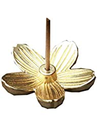クリエイティブヴィンテージ銅アートさくら型の香炉香スティックコーンホルダーホーム仏教の装飾誕生日お香ホルダー (Color : Gold, サイズ : 1.14*1.14inchs)