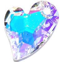 スワロフスキーエレメント#6261 17mm・クリスタルAB Devoted 2 U heart(ディヴォーテドトゥユーハート・クリスタライズビーズ)