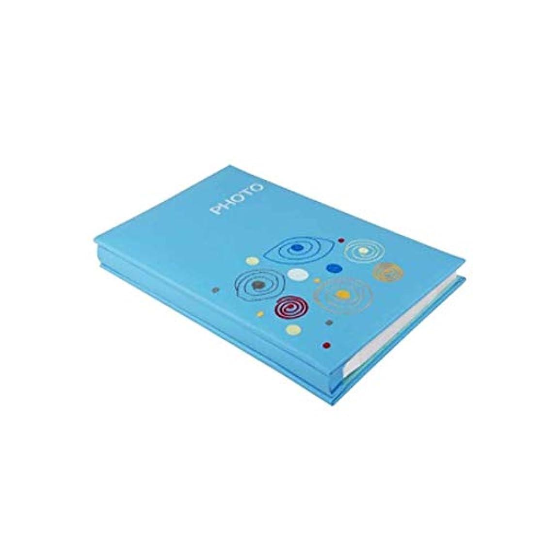 習熟度勢い店主HKXR フォトアルバム、クリエイティブホームトラディショナルアルバム、レザーインサートユニークで快適なデザインスタイル(写真200-300に対応、青) (Color : Blue)