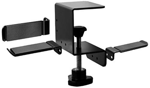 NBROS [ AudioStationシリーズ ] 3通りの設置が可能なクランプ(万力)固定タイプのヘッドホンスタンド [ ス...