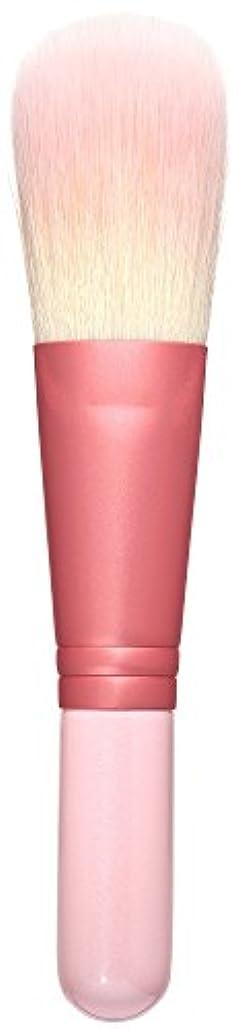 貧しい自分を引き上げるレトルト熊野筆 Purin 3D型パウダーブラシ(ピンク) KOYUDO Collection