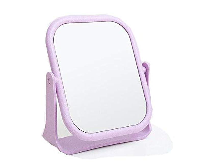巧みなケーキスティック化粧鏡、回転式HD両面デスクトップ化粧鏡化粧ギフト