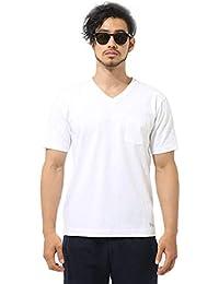 (アズールバイマウジー) AZUL by moussy Tシャツ USコットン天竺半袖VネックT メンズ 251BAD80-028F