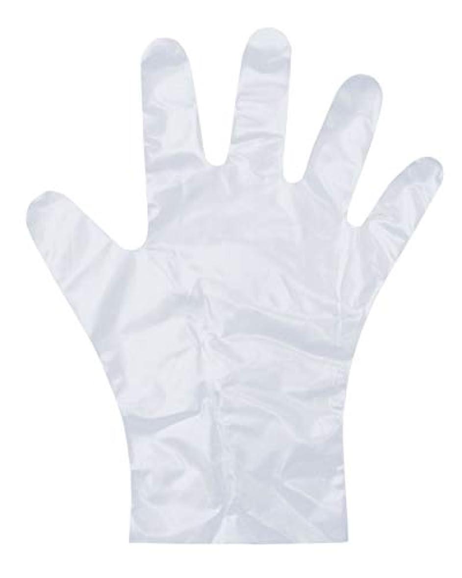 下手優しいガチョウダンロップ ホームプロダクツ ビニール手袋 ポリエチレン エンボス 半透明 M 調理 毛染め ペンキ塗り PD-110 100枚入