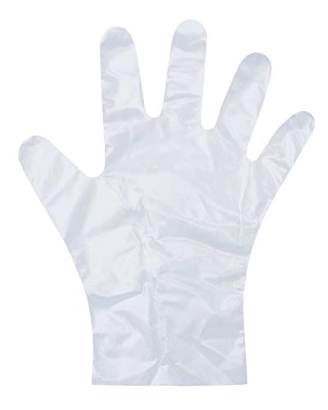 ダンロップ ホームプロダクツ ビニール手袋 ポリエチレン エンボス 半透明 M 調理 毛染め ペンキ塗り PD-110 100枚入