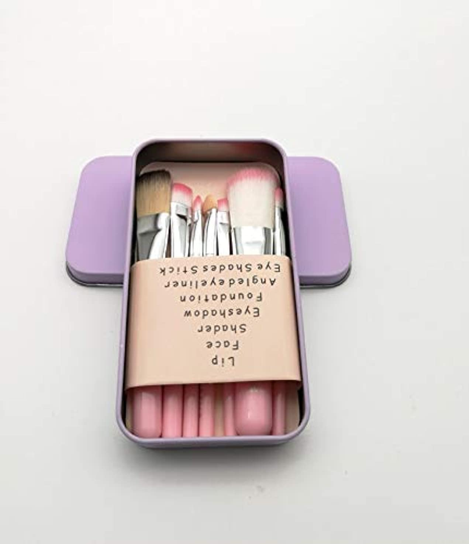 人物擬人安価な化粧ブラシセット、ピンク7化粧ブラシ化粧ブラシセットアイシャドウブラシリップブラシ美容化粧道具