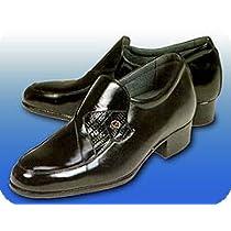 牛革製 ヒールアップ紳士靴 (24.5センチ, 黒)