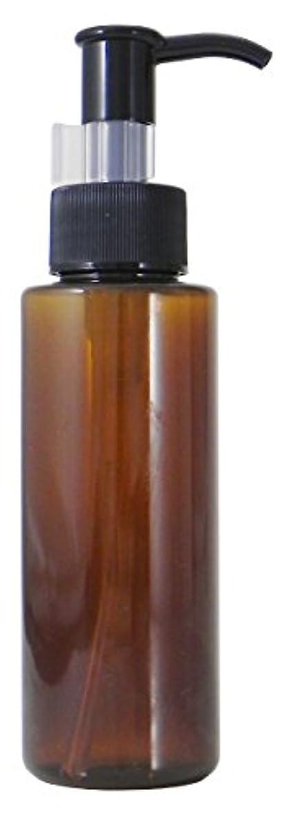 お勧め女性パスタPETボトル ポンプ (茶) 100ml