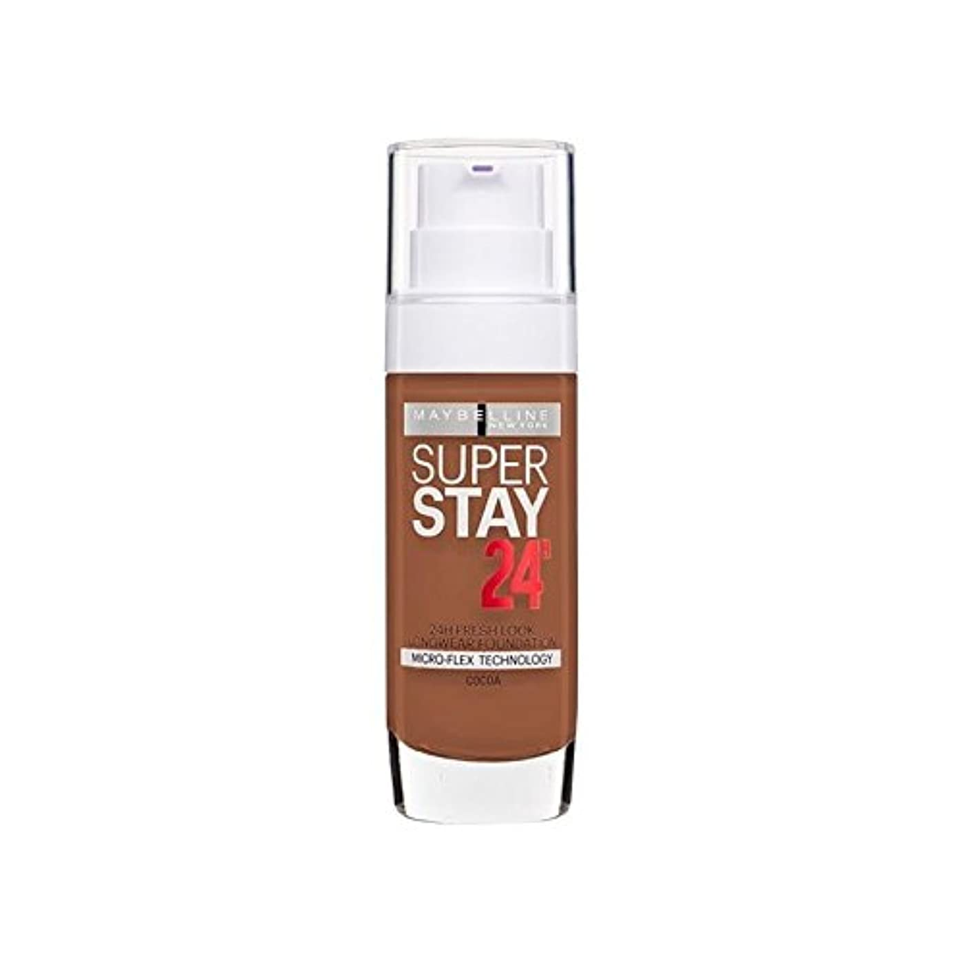 パターンファイル熟達したメイベリン 24時間リキッドファンデーション70ココア30ミリリットル x4 - Maybelline SuperStay 24h Liquid Foundation 70 Cocoa 30ml (Pack of 4)...