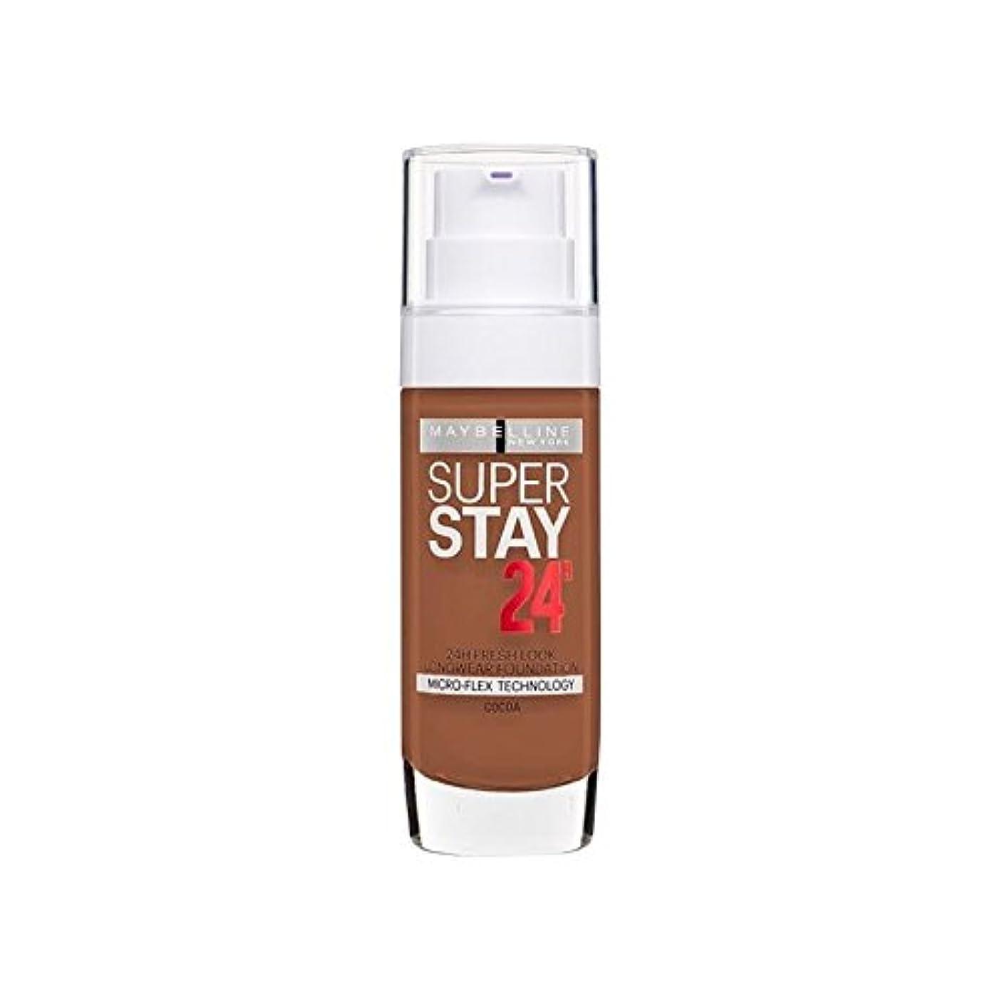 チキン患者おとなしいMaybelline SuperStay 24h Liquid Foundation 70 Cocoa 30ml (Pack of 6) - メイベリン 24時間リキッドファンデーション70ココア30ミリリットル x6...