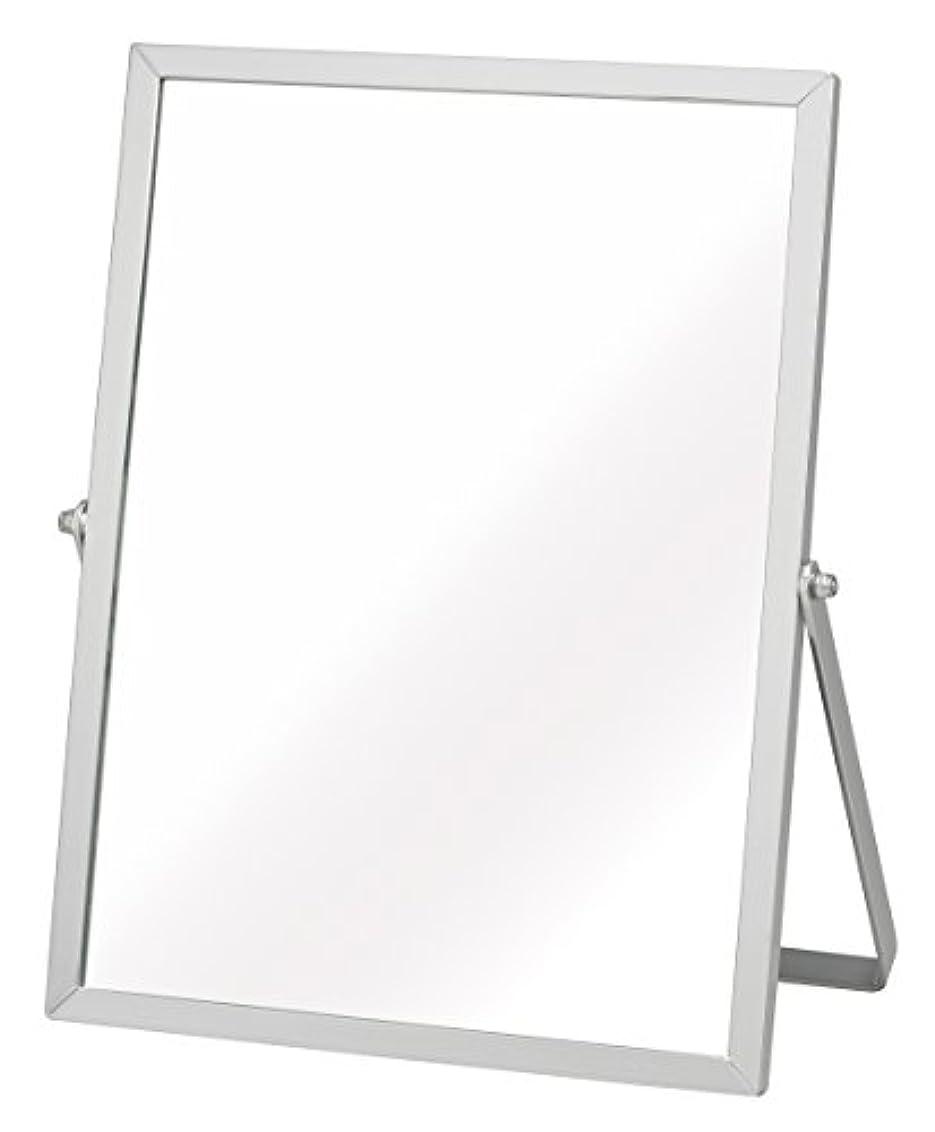 優先権まもなくクライアント永井興産 アルミ卓上ミラーM シルバー 幅18.5×高さ23cm