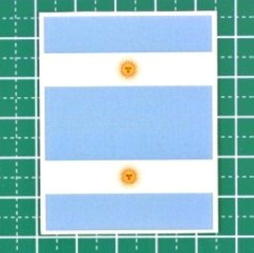 出費深く年次アルゼンチン国旗★フェイスシール【ワールドカップ(サッカー)】/1シート2枚組