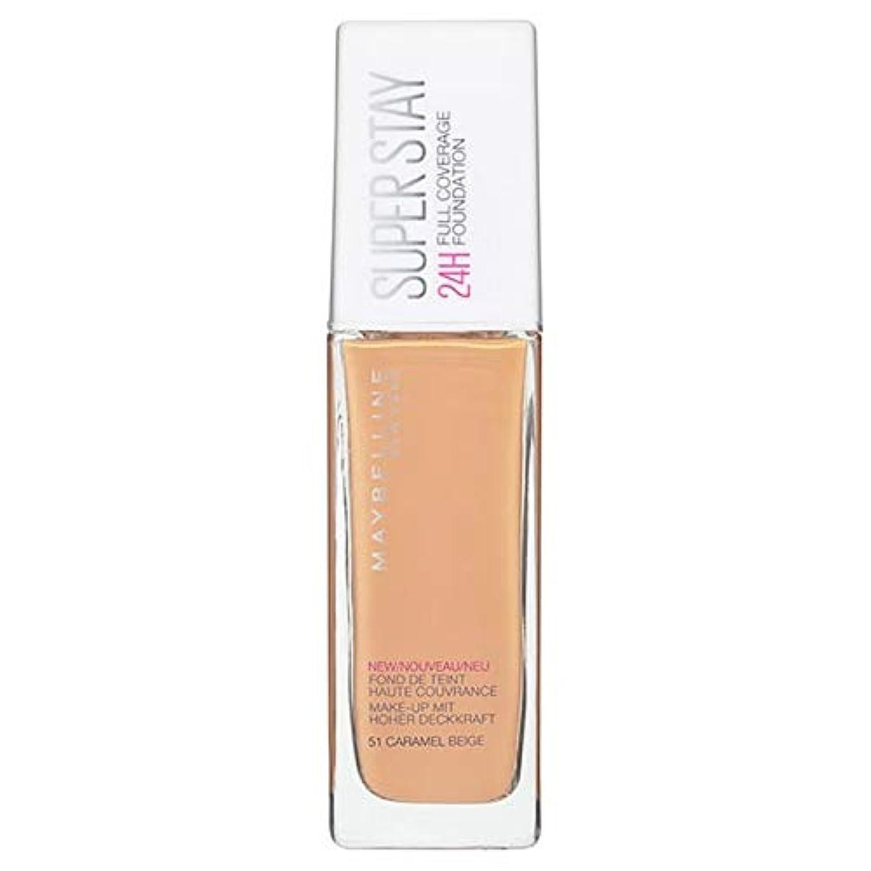 最近専門ゆるく[Maybelline ] メイベリンSuperstay土台24時間51クリームベージュ30ミリリットル - Maybelline Superstay Foundation 24 Hour 51 Cream Beige...