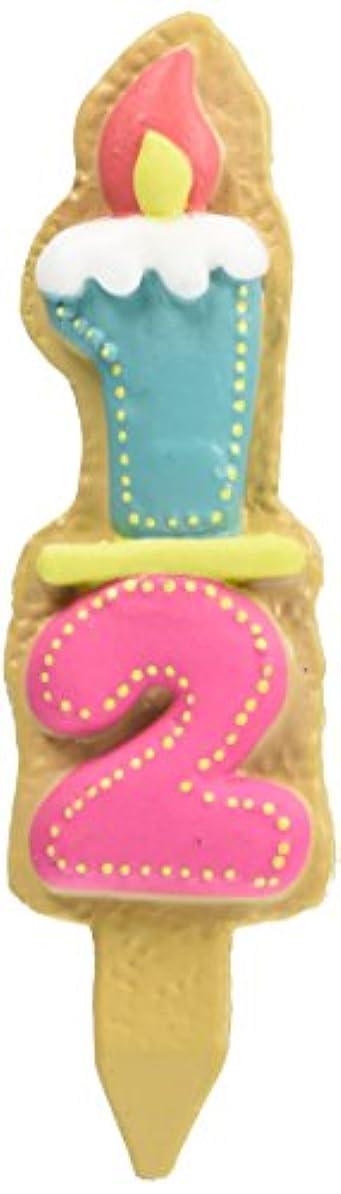 縮れた資格枕クッキーナンバーキャンドル ハーフ 56280102