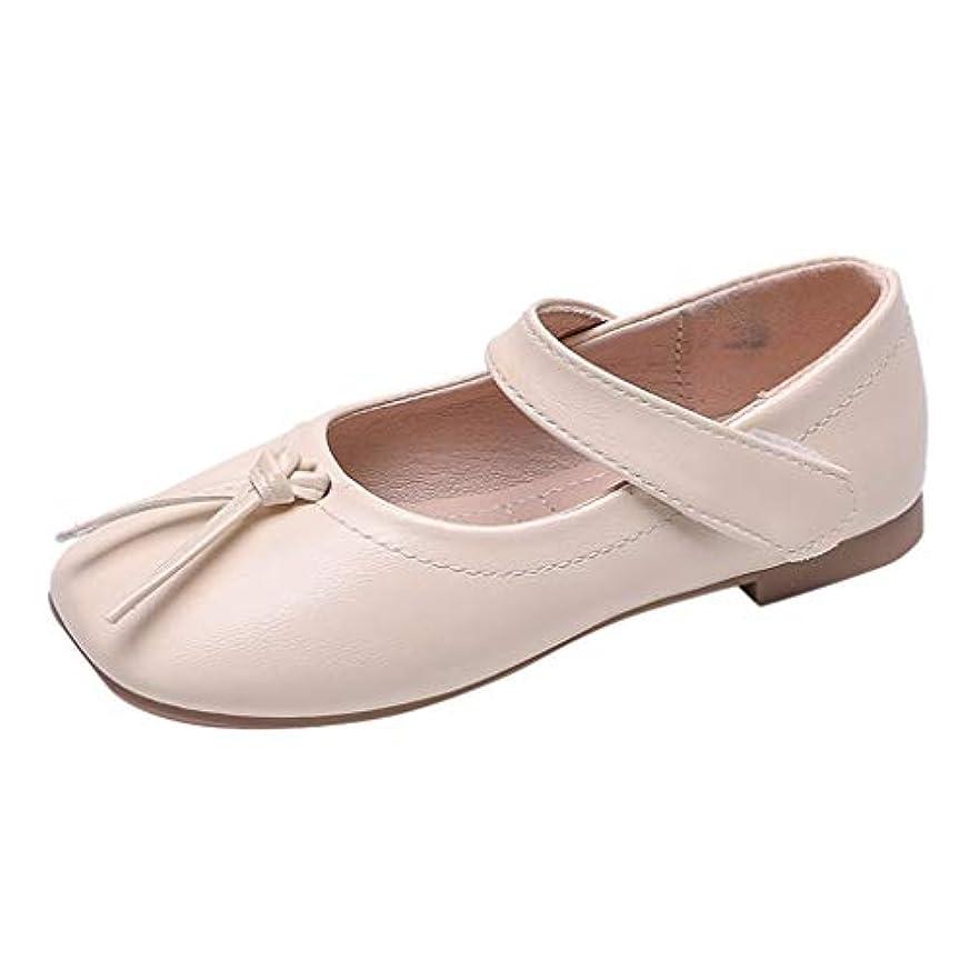 シャンパン局脚本Eldori 子供靴 柔らかい カジュアル おしゃれ 軽量 秋の新しいファッション 王女 靴 正方形 頭 柔らかい底浅い口 大きな子供 単一 靴韓国の女の子ピーズ 靴カジュアルシューズ 3.5-11歳