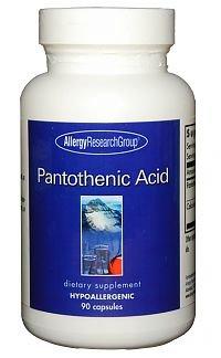 パントテン酸(ビタミンB5) サプリメント 1粒500mg 植物性90粒x2セット【海外直送品】