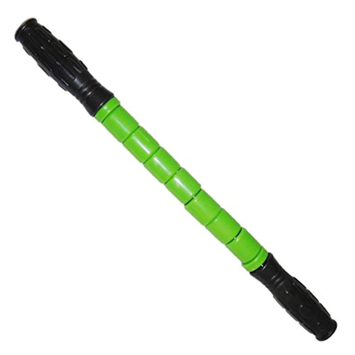 クロス知人プロテスタントスティック マッスル マッサージ ローラー 筋肉 グループ 痛み 疲れ 緩和 全3色 - 緑