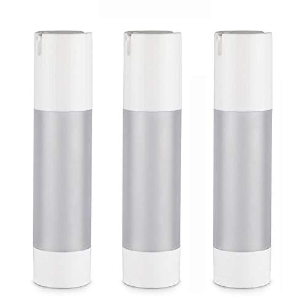 スクラップブックインタフェースホールド小分けボトル 乳液 3本セット ディスペンサー ボトル シャンプー ボディーソープ ポンプボトル 真空 ボトル 詰替用ボトル 旅行用 (乳液50ml)