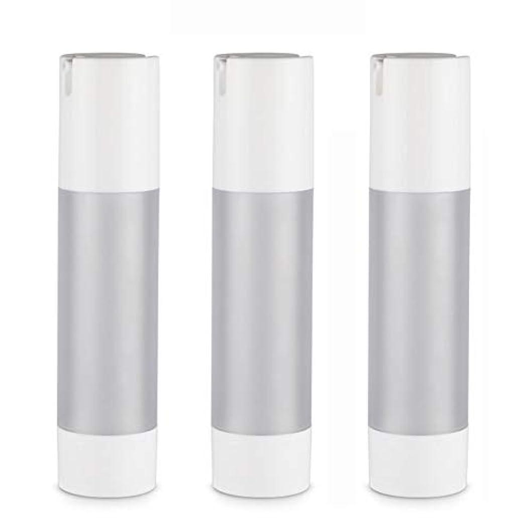 砂漠帰する咽頭小分けボトル 乳液 3本セット ディスペンサー ボトル シャンプー ボディーソープ ポンプボトル 真空 ボトル 詰替用ボトル 旅行用 (乳液50ml)
