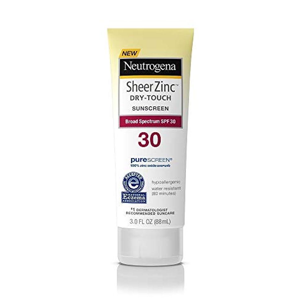 見物人吸収主張Neutrogena シアー亜鉛ドライタッチSPF#30日焼け止め3オンス(88Ml)(3パック)