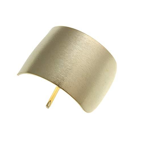 [ヴァンテーヌ] VINGTAINE カーブ プレート ヘアカフ マット ヘアフック 挿すだけ 簡単アレンジ ヘアアクセサリー H7205-G- ゴールド