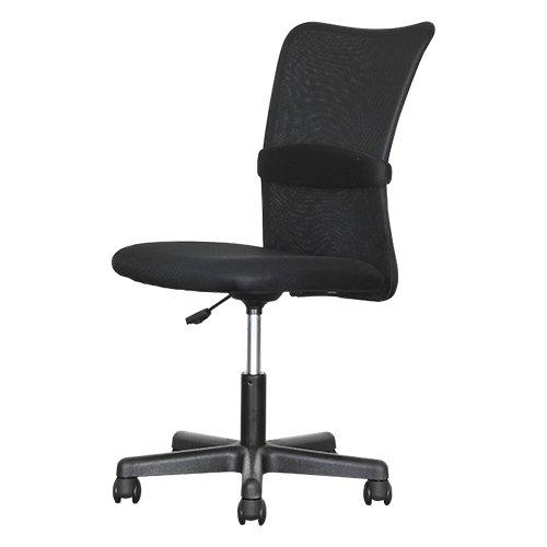 オフィスコム オフィスチェア パソコンチェア メッシュ 腰当て付き ひじ無し ブラック チャットチェア