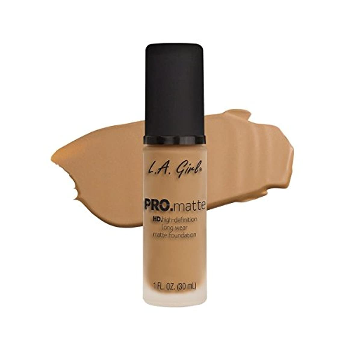 やさしく段階行為(6 Pack) L.A. GIRL Pro Matte Foundation - Medium Beige (並行輸入品)