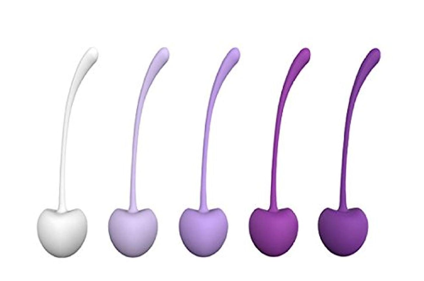 ボーナスクレタ傾いた膣トレグッズ, 恥骨尾骨筋鍛え インナーボール, 女性と産後の母親 専用のケーゲルボール ダンベル 女性のための大人の玩具初心者 (5個)