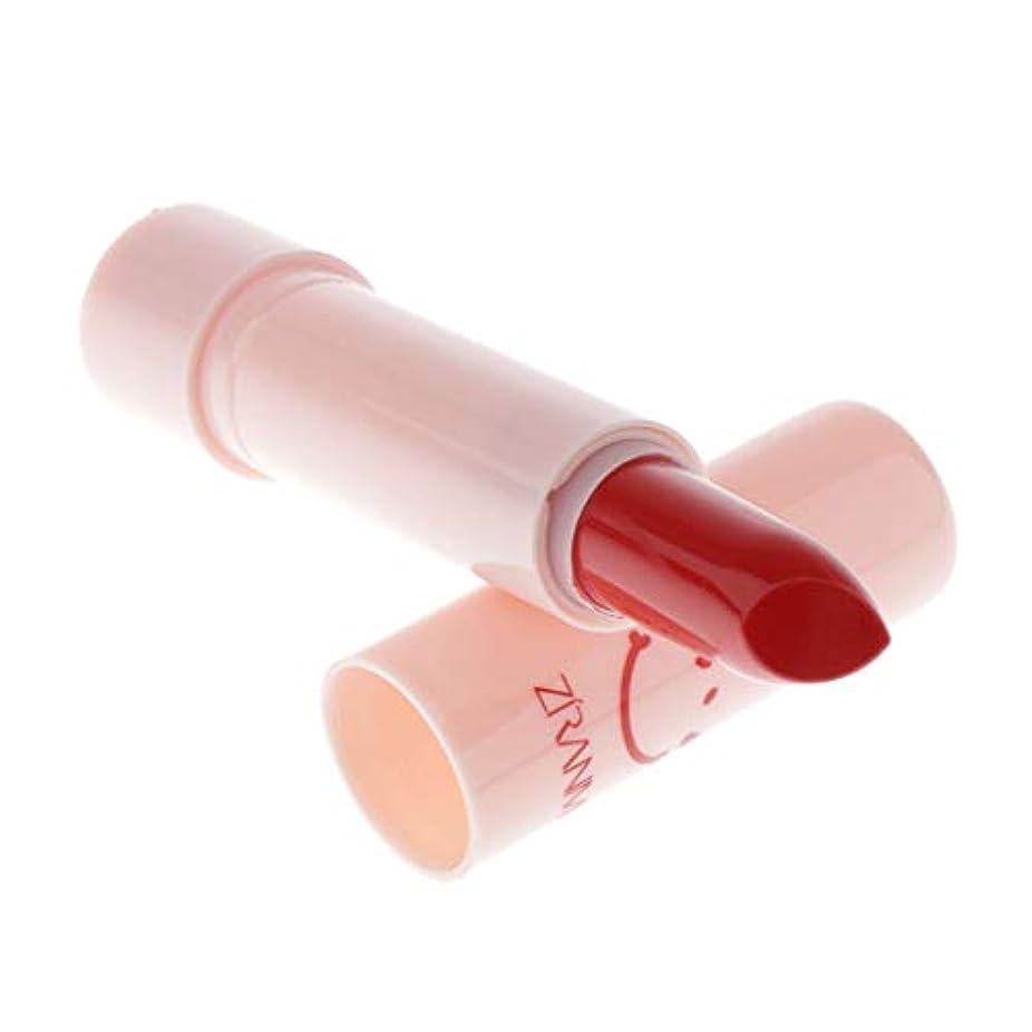 胆嚢請願者クリークToygogo 口紅 マット リップスティック 長続き 保湿 滑らかな 化粧 メイクアップ 3g - チェリーレッド, 7×2cm